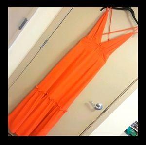 BOOHOO Bohemian halter dress